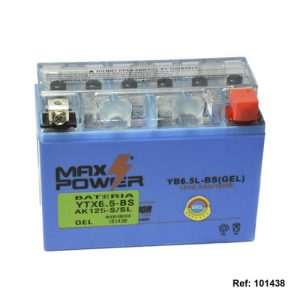 101438 BATERIA YTX6.5-BS GEL AK125-SSL Max Power