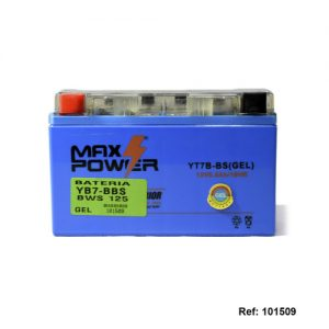 101509 BATERIA YB7-BBS GEL BWS125 Max Power