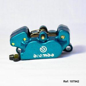 107942 MORDAZA FRENO DELANTERO UNIVERSAL BREMBO-GLOW BLUE (UNIVERSAL AZUL)