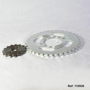 110926 -PINONES KIT DEL/TRAS. HONDA ECO 14-44T